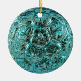 ヴィンテージの水のガラスクリスマスの球のTiffanyの青 セラミックオーナメント