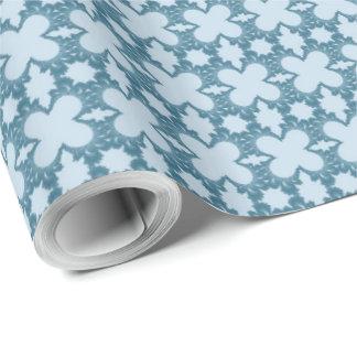 ヴィンテージの水の青いバレンタインデーの包装紙 ラッピングペーパー