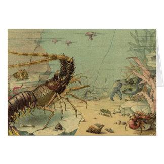 ヴィンテージの水中海洋生物、海の動物 カード