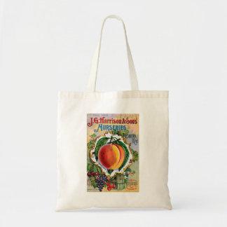 ヴィンテージの水分が多いモモ広告トートバック トートバッグ