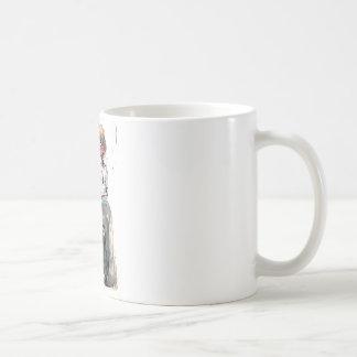 ヴィンテージの水彩画の男の子およびおり コーヒーマグカップ