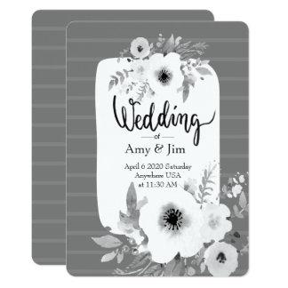 ヴィンテージの水彩画の結婚式招待状 カード