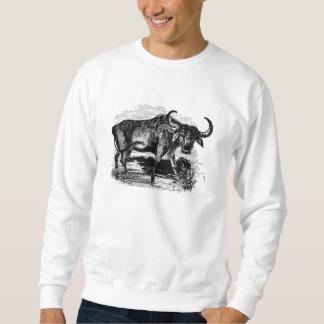 ヴィンテージの水牛のレトロのバイソンのイラストレーション スウェットシャツ
