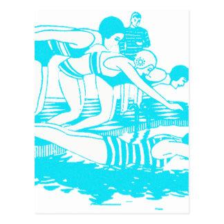 ヴィンテージの水着 ポストカード
