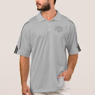 ヴィンテージの波の男性アディダスClimaLite® 1/2のプルオーバー ポロシャツ