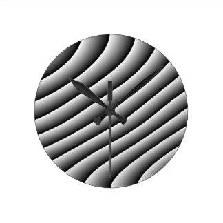 ヴィンテージの波状ライン柱時計 ラウンド壁時計