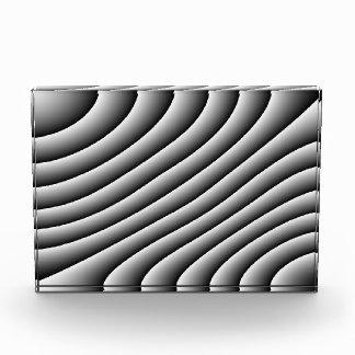 ヴィンテージの波状ライン装飾 表彰盾
