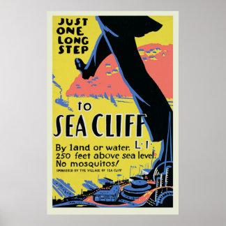 ヴィンテージの海の崖旅行ポスター ポスター