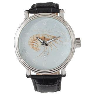 ヴィンテージの海洋生物の海動物、エビの解剖学 腕時計