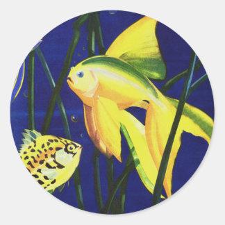 ヴィンテージの海洋生物の魚、タンクのファンシーな金魚 ラウンドシール