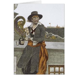 、ヴィンテージの海賊冒険のゲラのデッキのKidd カード
