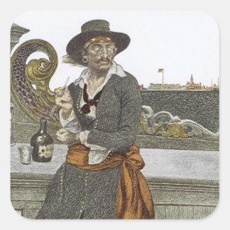 、ヴィンテージの海賊冒険のゲラのデッキのKidd スクエアシール