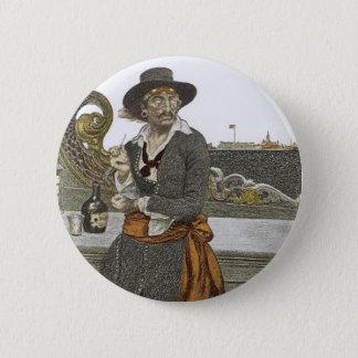 、ヴィンテージの海賊冒険のゲラのデッキのKidd 5.7cm 丸型バッジ