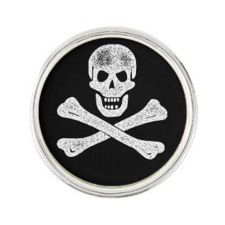 ヴィンテージの海賊骨が交差した図形 ラペルピン