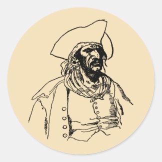 ヴィンテージの海賊、ハワードPyle著バッカニアのスケッチ ラウンドシール
