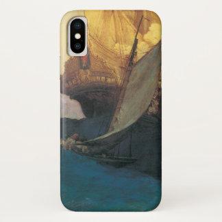 ヴィンテージの海賊、ハワードPyle著Galleonの攻撃 iPhone X ケース