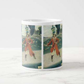 、ヴィンテージの海賊KeittハワードPyle著大尉 ジャンボコーヒーマグカップ