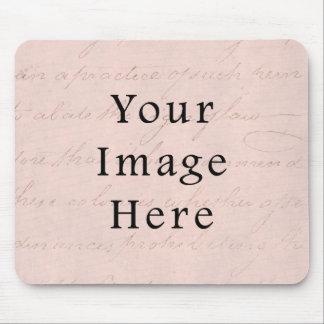 ヴィンテージの淡いピンクのバラの原稿の文字の硫酸紙 マウスパッド