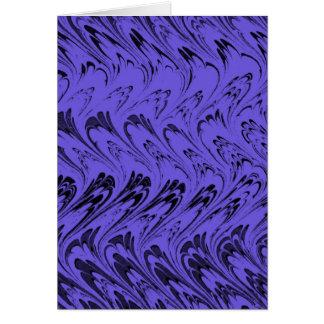 ヴィンテージの渦巻のブルーベリーの紫色の波 カード
