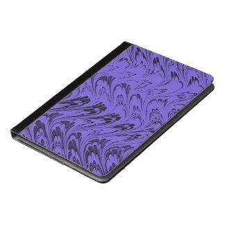 ヴィンテージの渦巻のブルーベリーの紫色の波 iPad AIRケース