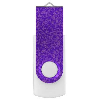 ヴィンテージの渦巻の紫外紫色 USBフラッシュドライブ