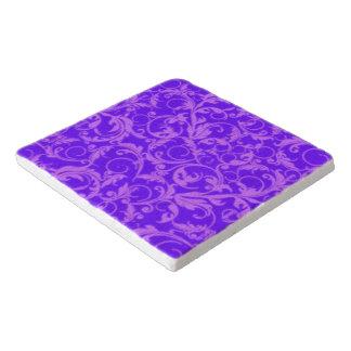 ヴィンテージの渦巻の紫色の紫色 トリベット