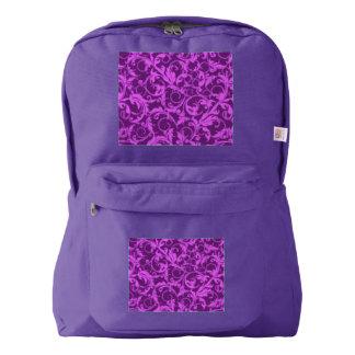 ヴィンテージの渦巻のWinterberryの蘭の紫色 American Apparel™バックパック