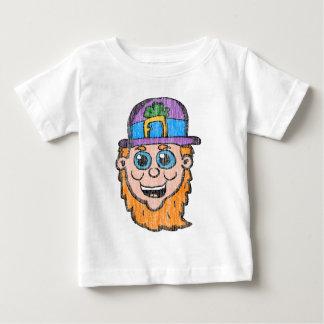 ヴィンテージの漫画の小妖精の頭部 ベビーTシャツ