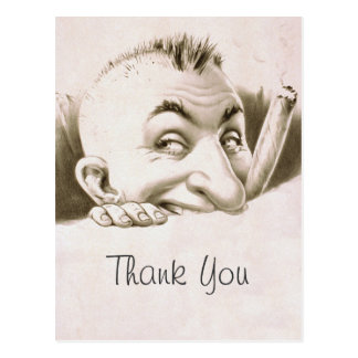 ヴィンテージの漫画は感謝していしています ポストカード