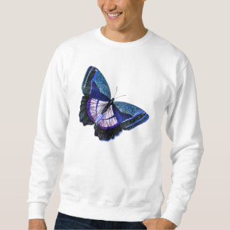 ヴィンテージの濃紺の紫色の蝶1896年のテンプレート スウェットシャツ