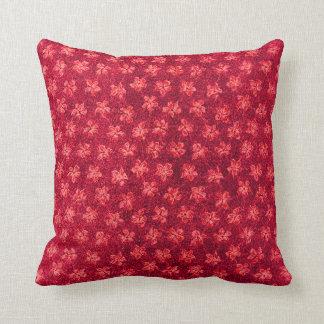 ヴィンテージの火の赤いバイオレットの枕 クッション