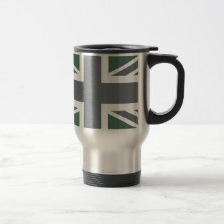 ヴィンテージの灰色のクラシックな英国国旗イギリス(イギリス)の旗 トラベルマグ
