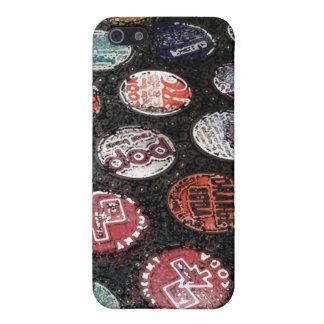 ヴィンテージの炭酸水のビンの王冠の水彩画のiPhoneの場合 iPhone SE/5/5sケース