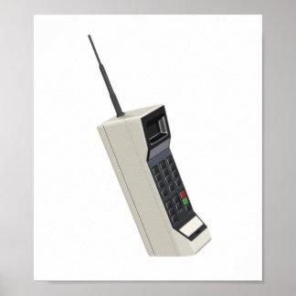 ヴィンテージの無線携帯電話 ポスター