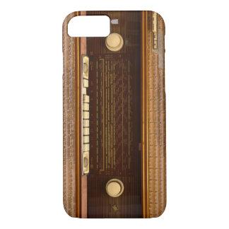 ヴィンテージの無線送受信機レトロ音楽チューナーのパネルの質 iPhone 8/7ケース