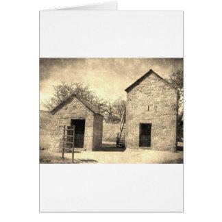 ヴィンテージの煉瓦家屋敷の建物 カード