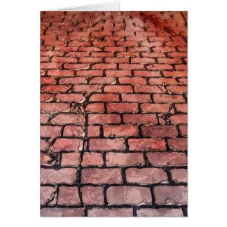 ヴィンテージの煉瓦通り カード