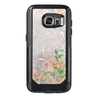 ヴィンテージの煙のモモの英国のバラのダマスク織Toule オッターボックスSamsung Galaxy S7ケース
