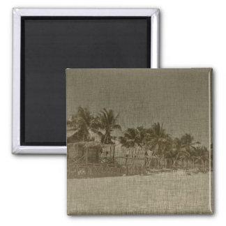 ヴィンテージの熱帯ビーチ小屋 マグネット