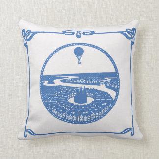 ヴィンテージの熱気の気球のパリアールヌーボーの枕 クッション