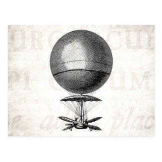 ヴィンテージの熱気の気球のレトロの飛行船の古い気球 ポストカード
