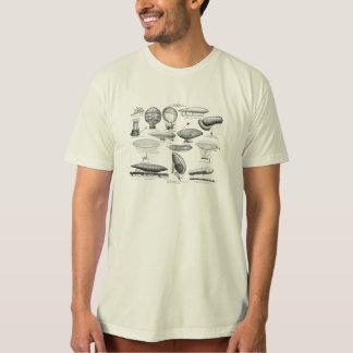 ヴィンテージの熱気の気球のレトロはテンプレートを風船のようにふくらませます Tシャツ