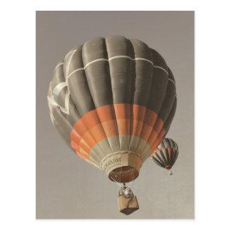 ヴィンテージの熱気の気球の郵便はがき ポストカード