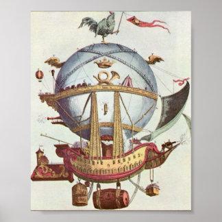 ヴィンテージの熱狂するな気球ポスター ポスター