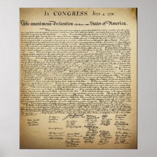 ヴィンテージの独立宣言 ポスター