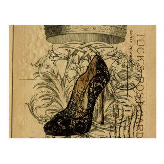 ヴィンテージの王冠のパリのファッションの女王の小剣 ポストカード