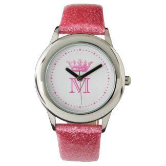ヴィンテージの王冠のモノグラム 腕時計