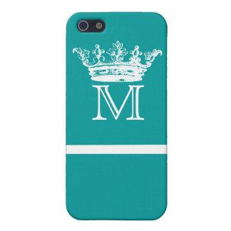 ヴィンテージの王冠のモノグラム iPhone SE/5/5sケース