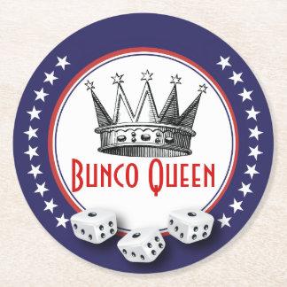 ヴィンテージの王冠のBuncoの女王のコースター ラウンドペーパーコースター