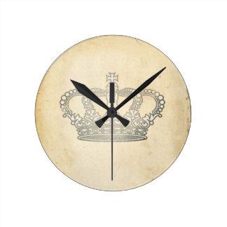 ヴィンテージの王冠 ラウンド壁時計